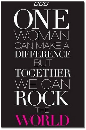 One Woman Can Make A Difference